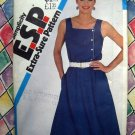Simplicity Pattern # 5581 UNCUT Misses Asymmetrical Dress Size Small /Medium Circa 1982