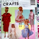 McCalls Pattern # 9664 UNCUT ~ CRAFT Barbie Doll Clothes from Vintage Collection