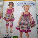 Simplicity Pattern # 2433 UNCUT Girls's Dress Capri Pants Bag Size 3 4 5 6 7 8