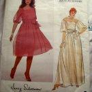 Vintage Vogue Pattern # 2983 UNCUT Misses Special Occasion Dress 2 Lengths Size 12 14 16
