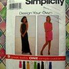 Simplicity Pattern # 8015 UNCUT Misses Design Your Own KNIT DRESS Size 16 18 20