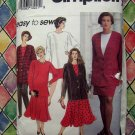 Simplicity Pattern # 8081 UNCUT Woman's Pants Flared Skirt Top Jacket Size 18 20 22 24