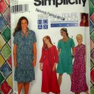 Simplicity Pattern # 9581 UNCUT Woman's Dress Two Lengths Size 26 28 30 32