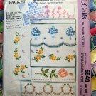 Vintage McCalls Pattern 6940 Transfer Cross Stitch Cutwork Patterns Circa 1963
