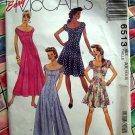 McCalls Pattern # 6513 UNCUT Misses Summer Dress Size 4 6 8