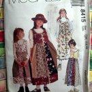McCall's # 8415 UNCUT Girls Jumper Size 7 8 10