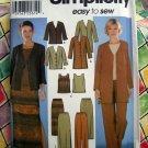 Simplicity Pattern # 7099 UNCUT Misses Wardrobe Size 8 10 12 14 Top Skirt Jacket Pants