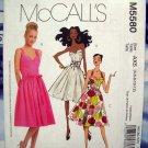 McCall's Pattern # 5580 Laura Ashley Summer Dress Size 4 6 8 10 12