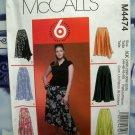 McCall's Pattern # 4474 UNCUT Woman's Skirt Plus Size 18 20 22 24