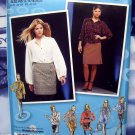 Project Runway Simplicity Pattern # 2807 UNCUT Misses Skirt Blouse Size 14 16 18 20 22