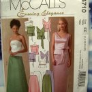 McCalls Pattern # 4710 UNCUT Misses Special Occasion Dress Top Skirt  Size 14 16 18 20