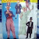 McCalls Pattern # 6143 UNCUT Kids Costume Size 12 14 Uncle Sam Lincoln Patriot Statue Liberty