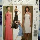 McCalls Pattern # 5100  Misses Halter Evening Dress Two Lengths Size 12 14 16 18