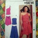 KWIK SEW Pattern # 3574 UNCUT Misses Summer Top & Skirt Stretch Knits Size XS S M L XL