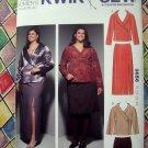 KWIK SEW Pattern # 3656 UNCUT Womens Skirt Top Size 1X 2X 3X 4X