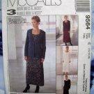 McCalls Pattern # 9564 UNCUT Misses Dress  Jacket Size 14 16 18