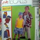 McCalls Pattern # 3193 UNCUT Easy Kids Tank Top Shirt Pants Shorts Size Medium Large XL