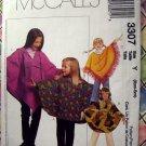 McCalls Pattern # 3307 UNCUT Girls Poncho Hooded Pull-Over Pants Size XS SMALL 3 4 5 6