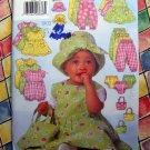 Butterick Pattern # 5326 UNCUT Baby Infant Wardrobe Size L-XL Dress Jumper Romper Panties