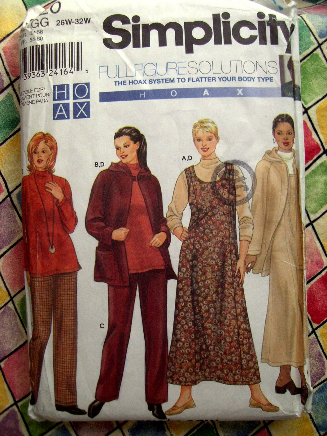 SOLD! Simplicity Pattern # 9320 UNCUT Woman's Wardrobe Jacket Pants Top Jumper Size 26 28 30 32