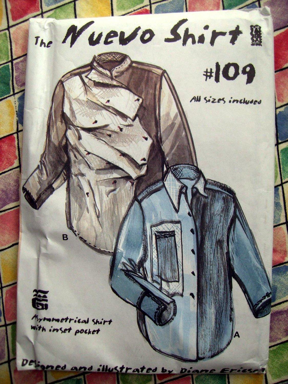 Rare Unique The NUEVO Men's Shirt Pattern # 109 Diane Ericson All Sizes