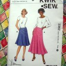 Kwik Sew Pattern # 3362 UNCUT Misses Flared Skirt Size XS Small Medium Large XL
