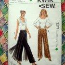 Kwik Sew Pattern # 3271 UNCUT Pull-On Pants Size XS Small Medium Large XL