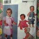 Simplicity Pattern # 5691 UNCUT Baby Dress Panties Bonnet ALL Sizes XXS XS Small Medium Large