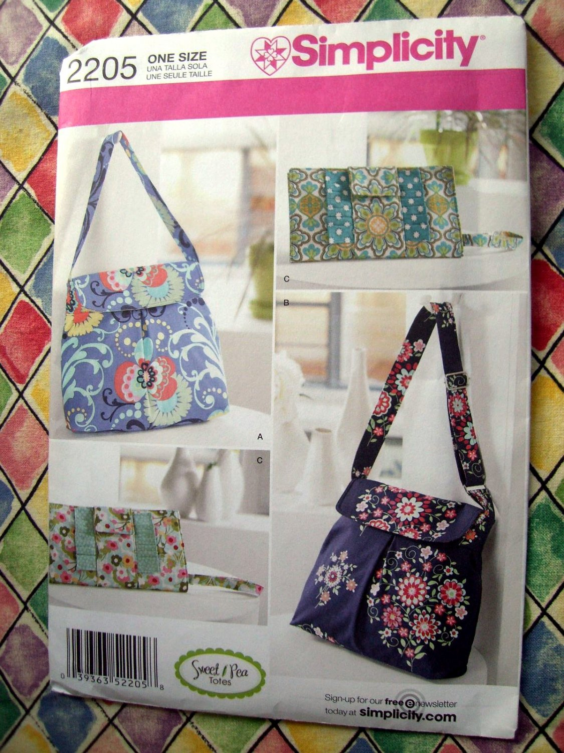 how to craft simplicity pattern 2205 bags totes clutches sweet 2205