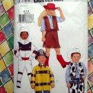 Butterick Pattern #3244 Child Costume Size 6 7 8 UNCUT Cowboy Fireman Astronaut