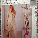 McCalls Pattern # 8118 UNCUT Misses Lined Jacket Pants Shorts Skirt Sizes 10 12 14