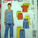 McCalls Pattern # 5357 Easy Stitch UNCUT Misses Tops Pants Shorts Size 6 8 10 12