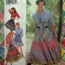 Style Pattern # 2298 UNCUT Misses Full Tiered Skirt Size 6 8 10 12 14 16