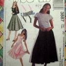 McCalls Pattern # 3887 UNCUT Junior Full Skirt Top Size 13/14 15/16 17/18