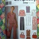 Simplicity Pattern # 5204 UNCUT Misses Pants Capri Skirt Shirt Bag Size 14 16 18 20 22