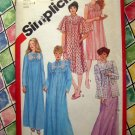 Simplicity Pattern # 5330 UNCUT Misses Nightgown Robe Bed Jacket Small Size 6 8