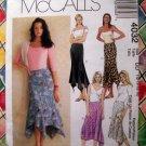 McCalls Pattern # 4032 UNCUT Misses Asymmetrical Handkerchief Hemline Skirt Size 12 14 16 18