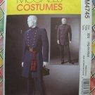 McCall's Costume Pattern #4745 UNCUT Civil War Officers Uniform Size XL XXL XXXL