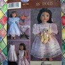 """Simplicity Pattern # 5428 UNCUT 18"""" Doll Fancy Frocks Dress"""