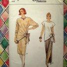 Vogue Pattern # 8962 UNCUT Misses Top Skirt (Long or Short) Size 12