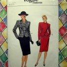 Vogue Pattern # 8813 UNCUT Misses Jacket & Skirt (Suit) Size 6 8 10