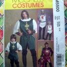 McCalls Pattern # 5500 UNCUT Costume Boys Knight Prince Size 3 4 5 6 7 8