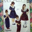 McCalls Pattern # 5116 UNCUT Girls Dress Jumpsuit Size 4 5 6