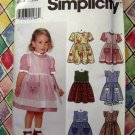 Simplicity Pattern # 7067 UNCUT Girls Toddler Dress Size 1/2 1 2 3 4