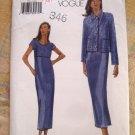 Vogue Pattern # 7141 UNCUT Misses Easy Dress Jacket Sizes 14 16 18