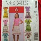 McCalls Pattern # 5038 UNCUT Girls Shrug, Tank Top Skirt Size 12 14 16