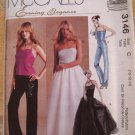 McCalls Pattern # 3146 UNCUT Misses Evening Elegance Top Gown Skirt  Pants Size 10 12 14