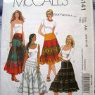 McCalls Pattern # 5141 UNCUT Misses Gypsy Skirt Size 6 8 10 12
