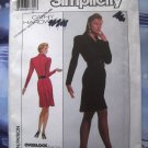 Simplicity Pattern # 8836 UNCUT Misses Dress STRETCH KNITS ONLY Size 12 14 16