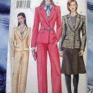 Vogue Pattern # 7343 UNCUT Misses Jacket Skirt Pants Size 8 10 12